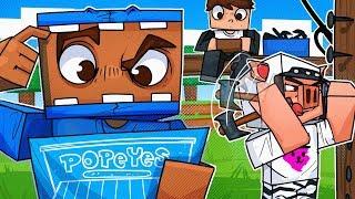 We Built A Popeye's Chicken For Sandwiches! - Minecraft!