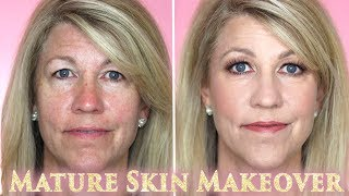 How to do Makeup and Hair: Mature Skin Hooded Eyes Beauty Tips Tutorial - GRWM Client 2