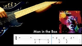 """Alice in Chains """"Man in the box""""  - bass playthrough with play along tabs"""