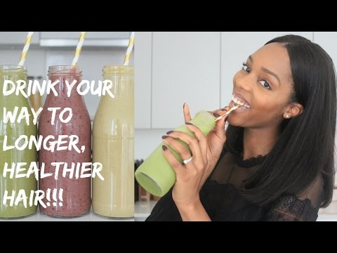 Video DRINK YOUR WAY TO LONGER, HEALTHIER HAIR ????????WITH THESE 3 HIGHLY NUTRITIOUS SMOOTHIES!
