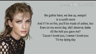 Taylor Swift - My Tears Ricochet lyrics