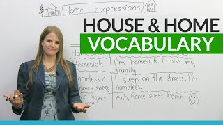 English Vocabulary & Expressions with HOUSE and HOME
