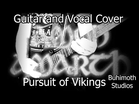 "Amon Amarth ""Pursuit of Vikings"" vocal and guitar cover"