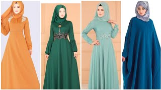New Top Stylish 35 Plain Long Muslim Modest Fashion Dresses