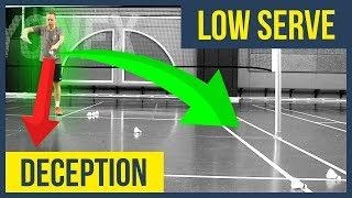 Deceptive SERVE, low in the side – Badminton serve techniques