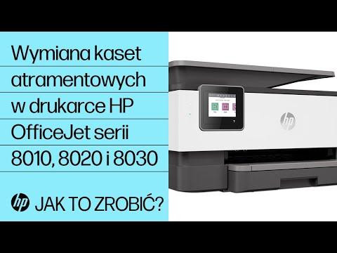 Wymiana kaset atramentowych w drukarce HP OfficeJet serii 8010 lub HP OfficeJet Pro serii 8020 lub 8030
