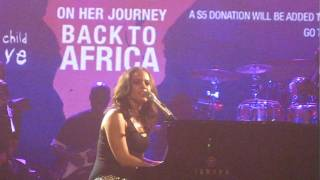 ALICIA KEYS - Like You'll Never See Me Again - Live ! - 12/01/09 - NYC