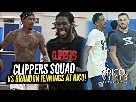 Josh Christopher Faces OFF vs LA Clippers Lou Will & Montrezl Harrell at Rico Hines Runs!!