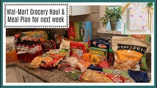 Wal-Mart Grocery Haul & Meal Plan for next week