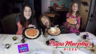 PAPA MURPHY'S MINI MURPHS PIZZA PARTY! WPFG FAMILY FUN VLOG + KIDS REVIEWS & HOW TO MAKE