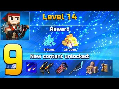 Pixel Gun 3D - Gameplay Walkthrough Part 9 - lvl 12 VS Lvl 50+