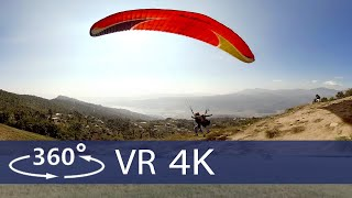 Paragliding near the Himalayas in 360  VR (Royal Mountain Travel Nepal)