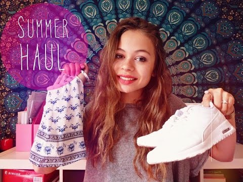 [HAUL TRY ON] Eté 2015, air max thea, zara, lacoste, h&m, the body shop..