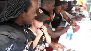 Joel sitting on Terry Cousin's Lap of the Browns
