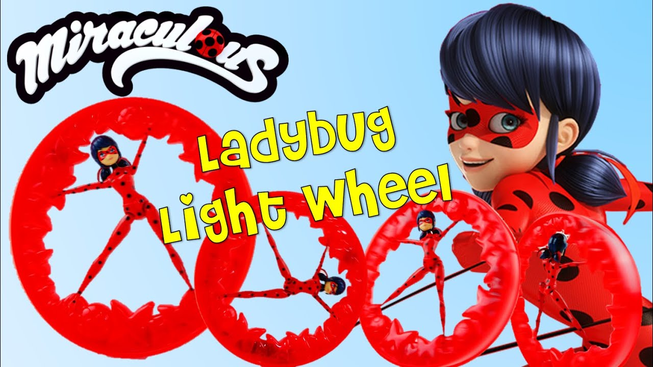 NEW Ladybug Light Wheel - Miraculous Ladybug and Cat Noir Toy Playset Unboxing and Review