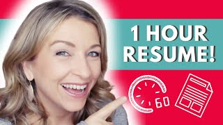 How To Write Your Resume in an HOUR
