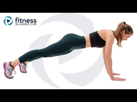 No Equipment Bodyweight Workout – At Home Core, Butt and Thighs Workout