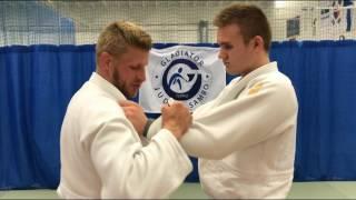 Дзюдо.Бросок с рукавами.+передняя+задняя  Judo.Sode Tsurikomi Goshi.+tai otoshi+osoto gari