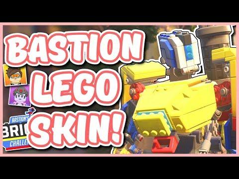 Overwatch - NEW LEGO BASTION SKIN (Bastion Brick Challenge!)