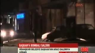 preview picture of video 'Ak Partili Ceylanpınar Belediye Başkanı Menderes Atilla'nın Bulunduğu Araç Saldırı'