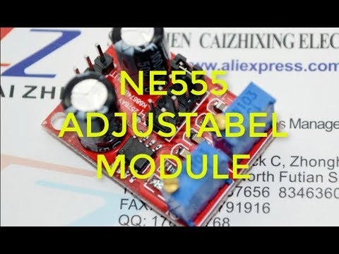5pcs NE555 Pulse Frequency Duty Cycle Adjustable Module Square Wave Signal Generator Stepper Motor Driver