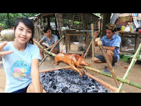 Yummy cooking BBQ pig recipe – Cooking skill Roast pig