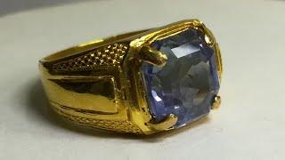 Neelam Gold Ring, Blue Sapphire Gold Ring, Gemstone Rings.