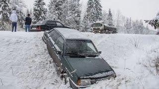 Заносы на зимней дороге от первого лица ► Автомобильные Истории