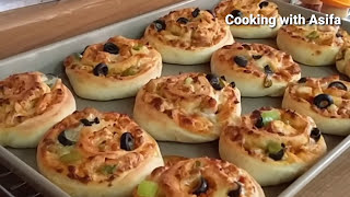 Tasty Pizza Rolls recipe | Homemade Fast food-style fresh n hot mini pizza rolls-