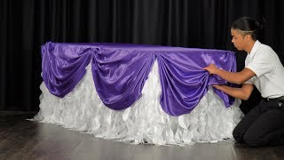How to Swag a Rectangular Tablecloth (D.I.Y. Table Scallop)