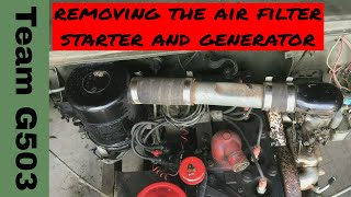 Team G503 Removing The Starter, Generator, Air Filter Assembly Fro A 1943 Willys MB