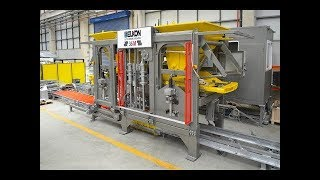 ELKOBLOCK-36M Fully Automatic Multilayer Concrete Block Making Machine Introductory video