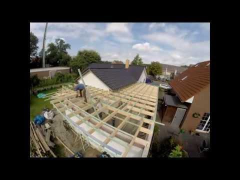 Flachdach errichten auf meiner Garage (Zeitraffer)
