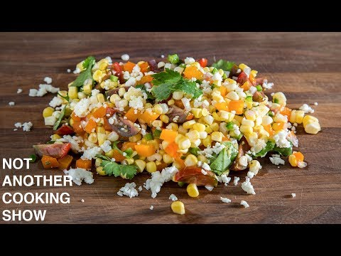 how to make a RAW CORN SALAD