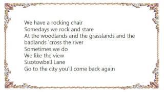 Joni Mitchell - Sisotowbell Lane Lyrics