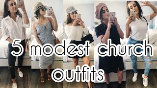 SUMMER OUTFITS FOR CHURCH!! (MODEST&CUTE)