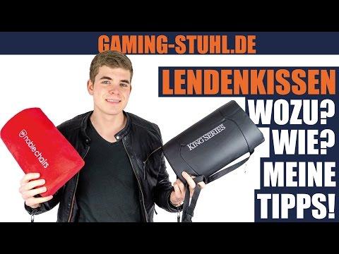 So benutzt du Nacken- und Lendenkissen deines Gaming-Stuhls richtig!