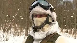 06-03-2018  На военном полигоне под Лугой прошли учения разведчиков-мотострелков