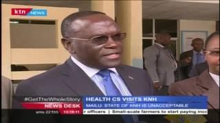 Health CS,Mailu makes impromptu visit to Kenyatta National Hospital to check on health conditions