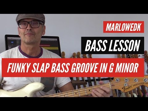 Slap bass groove in G minor tutorial