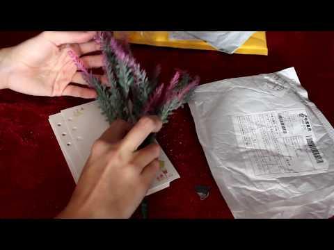 Unboxing: Fogli per bullet journal, penne per lettering (brushpen) e finta lavanda (aliexpress)