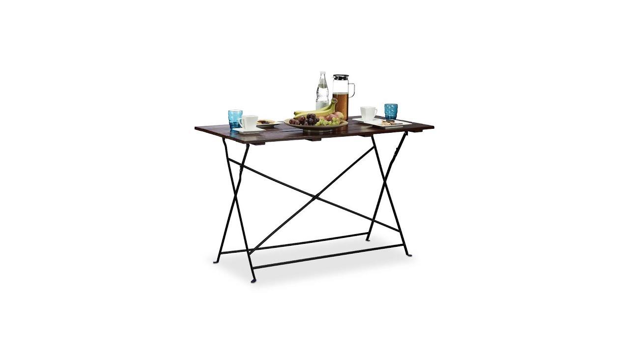 Gartentisch In Rotbraun 120x60 Cm Kaufen Relaxdays De