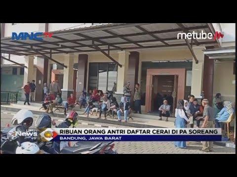 Akibat Faktor Perselingkuhan dan Ekonomi, 4.000 Pasangan di Bandung Antri Sidang Cerai - LIP 16/07
