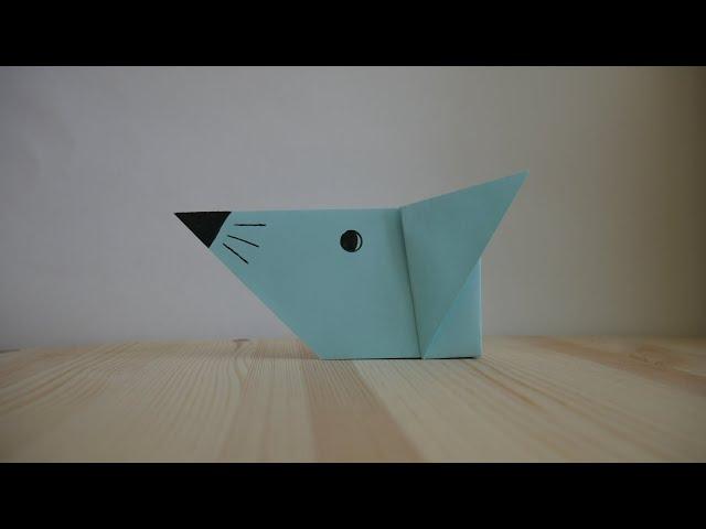 Оригами. Как сделать мышку из бумаги (видео урок)