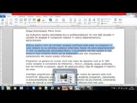 Video tutorial Word – 2 Editarea textului