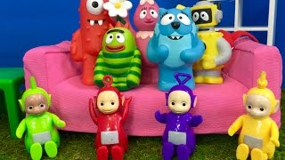 YO GABBA GABBA and TELETUBBIES Toys Learn About Animals with Goodluck Minis!