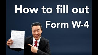 How to fill out a W4 Form
