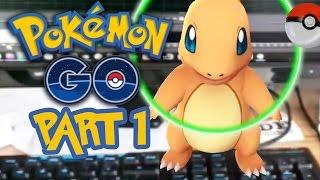 Pokemon GO Gameplay Let's Play / Walkthrough Part  1 - FIRST POKEMON
