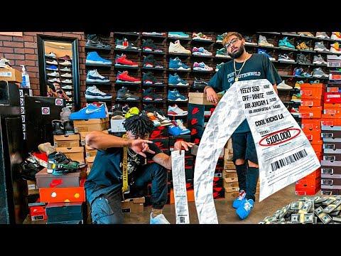 Millionaire Spends $100,000 Dollars on Shoe Shopping Spree!!!