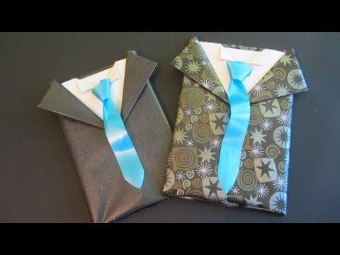 Tutorial: Envoltorio de regalo para caballero. Gift wrapping for men